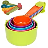 #2: Trexee Combo Baking Measurement Measuring Cups 5 Pieces & Spoons 5 Pieces Set Of Each Big & Small (Multi-Colour)