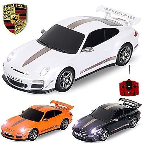 Produit Officiel Comtechlogic CM-2183 1:18 Porsche 911 GT3 RS 4.0 télécommandé RC Electric Car Prêt À Courir EP RTR - Noir / Orange / Blanc -