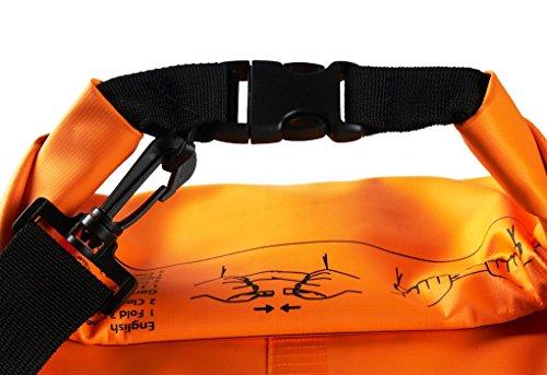 FakeFace Neu Wassderdicht Packsack Taschen Stausack Trockener Beutel 10 liter Orange 20L
