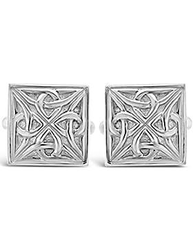 Manschettenknöpfe Keltisch Sterling-Silber 925, mit Geschenkbox