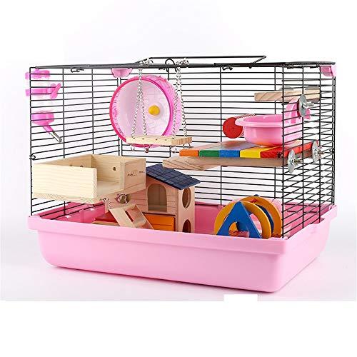 DRKJ Hamster Foundation Cage Hamster Meerschweinchen Großes Käfigpaket Jalousien Drahtgeflecht Villa 47 Base