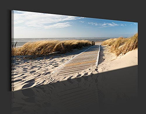 murando - Acrylglasbild Landchaft 135x45 cm - Glasbilder - Wandbilder XXL - Wandbild - Bilder - Strand c-B-0099-k-a - 5