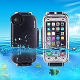 Casse del telefono mobile & Cover, HAWEEL per iPhone 7 40m impermeabile alloggiamento subacqueo foto video che prende la cassa di copertura subacquea ( Colore : Nero )