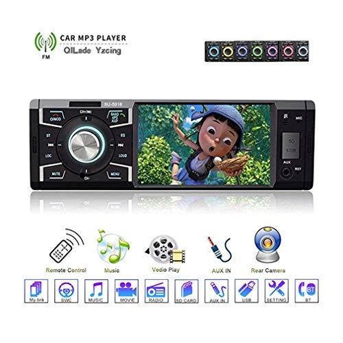 QILade Yzcing In-Schlag Auto-Stereoanlage mit Bluetooth Einzeln Din FM Radio für Auto und MP5 USB/SD/AUX/FM-Empfänger 4.1