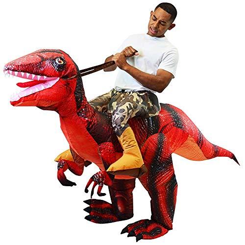 yuailiur Halloween Erwachsene aufblasbare T Rex Kostüm Aufblasbare Dinosaurier Erwachsene T-Rex Fancy Dress für Halloween ()