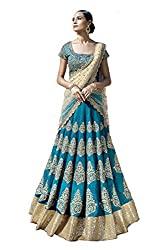 Vaankosh Fashion Women's Cotton Lehenga (sea green_Free Size)