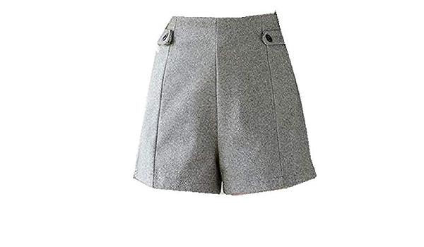 geknotete Hose in der Mitte der Taille A//N Herbst und Winter lockere l/ässige Damenhose Hose mit weitem Bein
