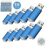10PCS USB-Flash Drive USB 2.0 Memory Stick Memory Drive Pen Drive blau 128 MB