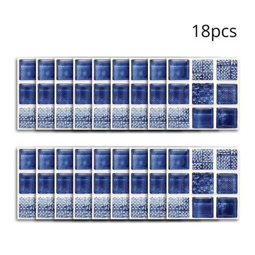 Tianxiu 18 Piezas Adhesivos Azulejos De Pared Material