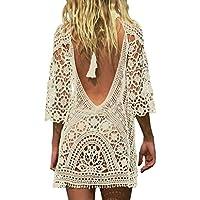 Women's Bathing Suit Cover up for Swimwear Crochet Lace Beach Dress