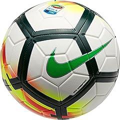 Idea Regalo - Nike Seriea NK STRK Pallone da calcio, Unisex adulto, Unisex adulto, SERIEA NK STRK, bianco/rosso/verde (white/red/pro green/green)