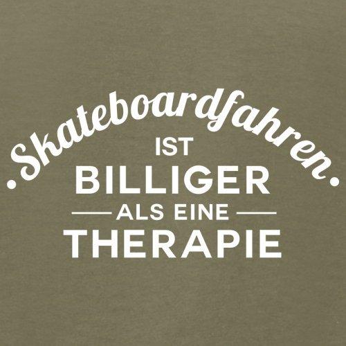 Skateboardfahren ist billiger als eine Therapie - Herren T-Shirt - 13 Farben Khaki