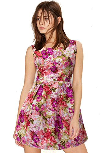 western dresses for women Floral Pink Skater Colour exclusive Dress ( All Size available )
