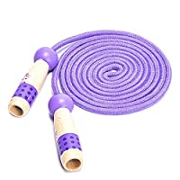 YULIXIN Kids Jump Ropes, Adjustable with Wooden Handle Woven Cotton 3m Length for children over 4 years old. Exercise, School Game or Outdoor Activity