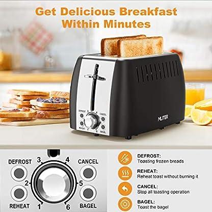 Toaster-MLITER-Edelstahl-Toaster-2-Extra-Breite-Toastschlitze-und-6-einstellbare-Brunungsstufe-875W-Toaster-mit-Auftauen-Aufwrmen-und-Abbrechen-Funktionen-Krmelschublade