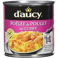 d'aucy Poêlée de Poulet au Curry 290 g - Lot de 6
