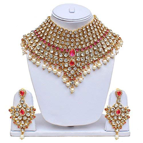 Lucky Jewellery Bridal Dulhan Dulhan Wedding & Engagement Jewellery Set for  Girls & Women (2475-L1ZS-KD124-)