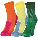 Merino Wool Light Cushion Socks (EU 39-42, Naranja/Fucsia - 1 Par)