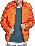 Urban Classics Herren Jacke Hooded Puffer Jacket, Rust orange, M