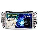 A-Sure 7 Zoll Doppel 2 Din Autoradio Navi DVD GPS Bluetooth FM Radio RDS Mirrorlink Für Ford MONDEO FOCUS C-MAX / S-MAX GALAXY KUGA original Kartematerial (49 europäische Länder) W4FFSQ