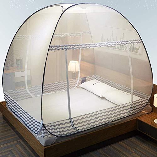 xus-Pop-Up-NETZZelt, groß: for zwei bis drei Kingsize-Betten, feinste Löcher, Baldachin, Insektenschutz, zusammenklappbares Design mit Boden, 2 Einträge, einfache Installation, Auf ()
