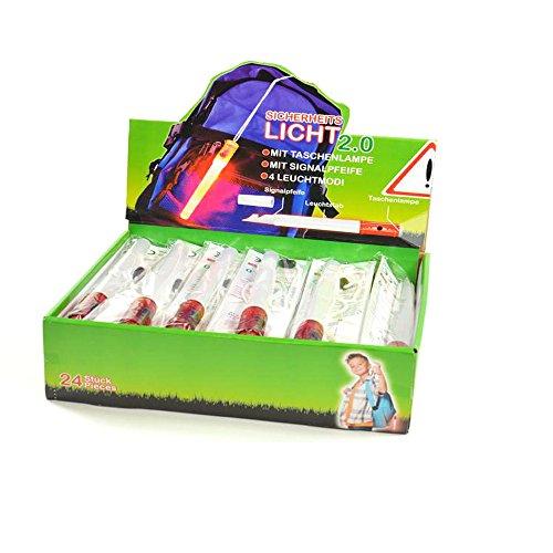 Sicherheitslicht, Light Guard 2, Leuchtstab mit Taschenlampe, rot/weiss