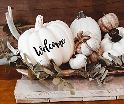 isti Fall Decor Kürbis-Aufkleber Herbst Tischdekoration Willkommen Aufkleber Herbst Erntedankfest Halloween Dekoration Hochzeit Willkommen Schild