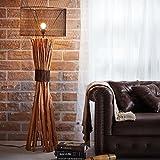 LOFT STYLE BUNCHED XL DESIGN STEHLAMPE STEHLEUCHTE mit SCHIRM aus TREIBHOLZ HANDGEFERTIGT 150 cm HÖHE | HOLZ HOLZLAMPE TREIB-HOLZ UNIKAT | LAMPENSCHIRM: METALL | DIE EXKLUSIVE VINTAGE LAMPE