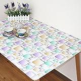 Mejor valor Papel pintado de pvc Mantel impermeable Papel higiénico transparente anti-corrosión sin aceite Mantel rectangular Mantel de mesa de café suave Mantel único (5 colores opcionales) (tamaño opcional) Para cualquier mesa ( Color : C , Tamaño : 80*150 CM )