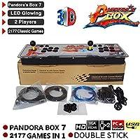 2177 en 1 3D Pandora's Key 7 Box Consola de juegos arcade retro, 1080P Arcade Machine, 4 Players Max Arcade Machine, 2 Player Game Controls