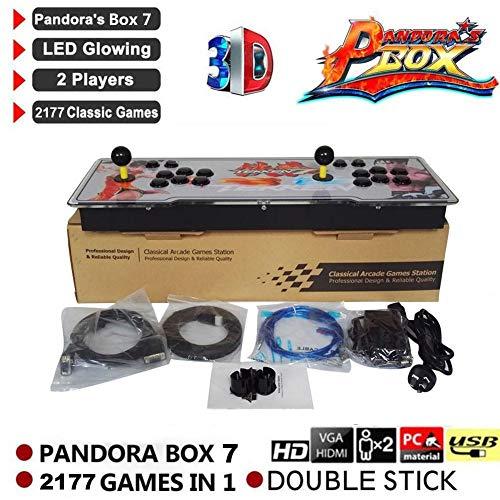 feiledi Trade 2177 in 1 Pandora's Box Arcade 7-3D Dual Screen Mini Arcade Videogiochi Console 2020 Giochi N64 PS, 7 Arcade Videogiochi Console Box 1920x1080-2 Spieler