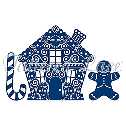 Tattered lace metal Die set CHRISTMAS Gingerbread house man etl156