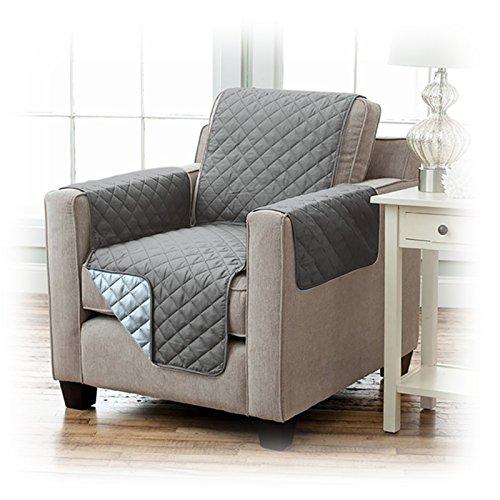 JEMIDI Sesselschoner Schonbezug Sessel Schoner Sofabezug Sofaschonbezug Sofa Überwurf 191cm x 165cm Anthrazit/Hellgrau