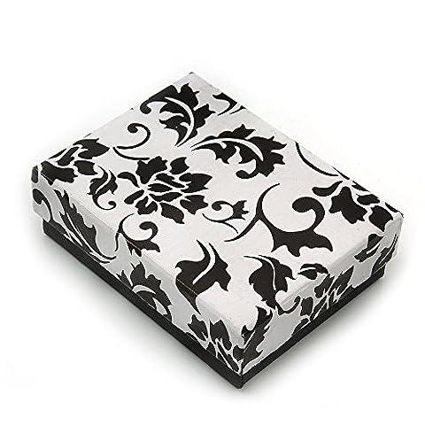 Black/White Card Pendant/Brooch/Earrings Box