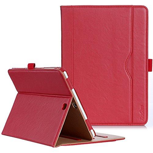 ProCase Étui pour Samsung Galaxy Tab S2 9.7, Smart Cover Case Housse Coque avec Support Fonction et Veille/Réveil Automatique pour Galaxy Tab S2 Tablet (9.7 Pouce, SM-T810 T815 T813) - Rouge