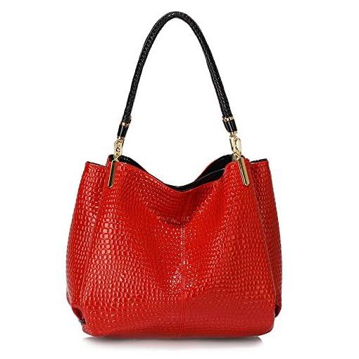 Womens Hobo Bags Ladies 3 Compartment Handbag Snake Effect Patent Leather New Shoulder Designer Female Luxury Handbag