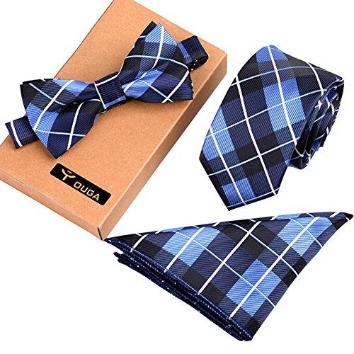 Blancho Formal/Informelles Krawatten Set Herren modische Krawatte/Fliege/Einstecktuch