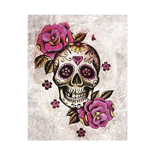 (OverDose Damen Halloween 5D Stickerei Gemälde Strass Pasted Party Clubbing Romantische DIY Knochen Geister Diamant Malerei Kreuzstich)