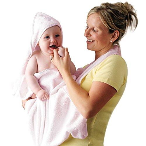 Imagen 1 de Clevamama Splash & Wrap - Toalla para bebés (2 unidades), color rosa