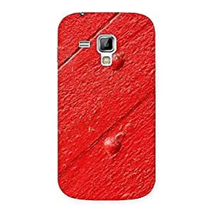 Red Texture Wood Designer Back Case Cover for Galaxy S Duos