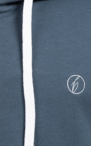 Banqert Herren Hoody, FAIRE Löhne, Purified Cotton, Männer Hoodie-s Kapuzenjacke-n Kapuzen-sweater mit Reissverschluss Men, Dunkelblau Blau S Small - 3