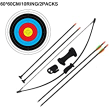 SHARROW 40lbs Bogenschie/ßen Takedown Recurve Bogen und Pfeil Set Straight Bogen mit 12er Fiberglaspfeilen f/ür Kinder Erwachsene Anf/änger