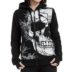 Hibote Skull Punk Gothic...