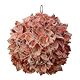 Oppacher Weihnachtswunschkugel rot Gewachst mit Glitter Weihnachtskugel Deko-Kugel Wunschkugel Baumwollfrucht Weihnachts-Dekoration Handarbeit