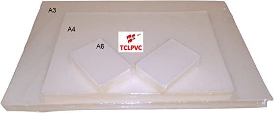 Tclpvc Lamination Paper Pouch Sheet For Laminator Machine A4 100 Sheets + A3 100 Sheets + 200 Pouches Id Card Size Product Code 246