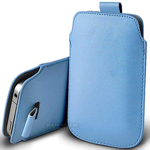 Aventus (Nero) Apple Iphone 6 / Iphone 6s Custodia Protettiva Pull Tab Cord in Finta Pelle per Cellulare Rimovibile con Cucita Banda Estraibile Celeste