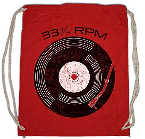 Urban Backwoods Vinyl 33? RPM Turnbeutel Sporttasche Schallplatte Club Disco Retro Music Plattenspieler Phonograph Record Player Turntable DJ MC Record Collector Disc Mint Retro Addiction