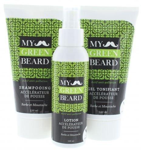 Bart Wachstumsbeschleuniger Lotion + Shampoo + Gel - My Green Beard für schnelleres Bartwachstum