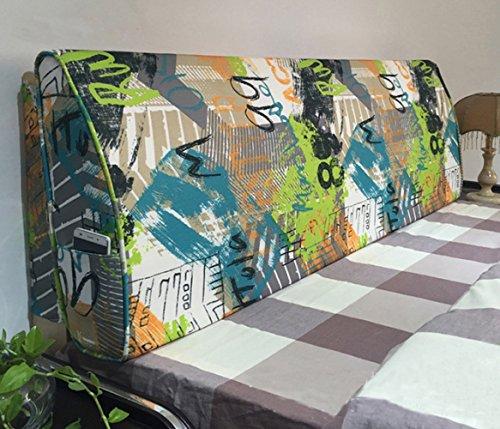 PIAOL Europäische Jacquard-Abdeckung Für Kopfteil Weiches Langes Bett Rückenlehne Zum Lesen mit Schwamm Füllung-Alle Größe,GraffitiB-180 * 50 * 12cm (Lange-bett-abdeckung)