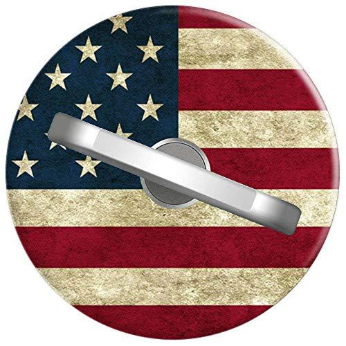 RAHJK Telefon Handy Ring Vintage Amerikanische Flagge Patriotische Usa Stars Bars, 360 Grad drehbar Finger Ring Griff Handy Halter kompatibel mit Smartphones und Tablets 1U526